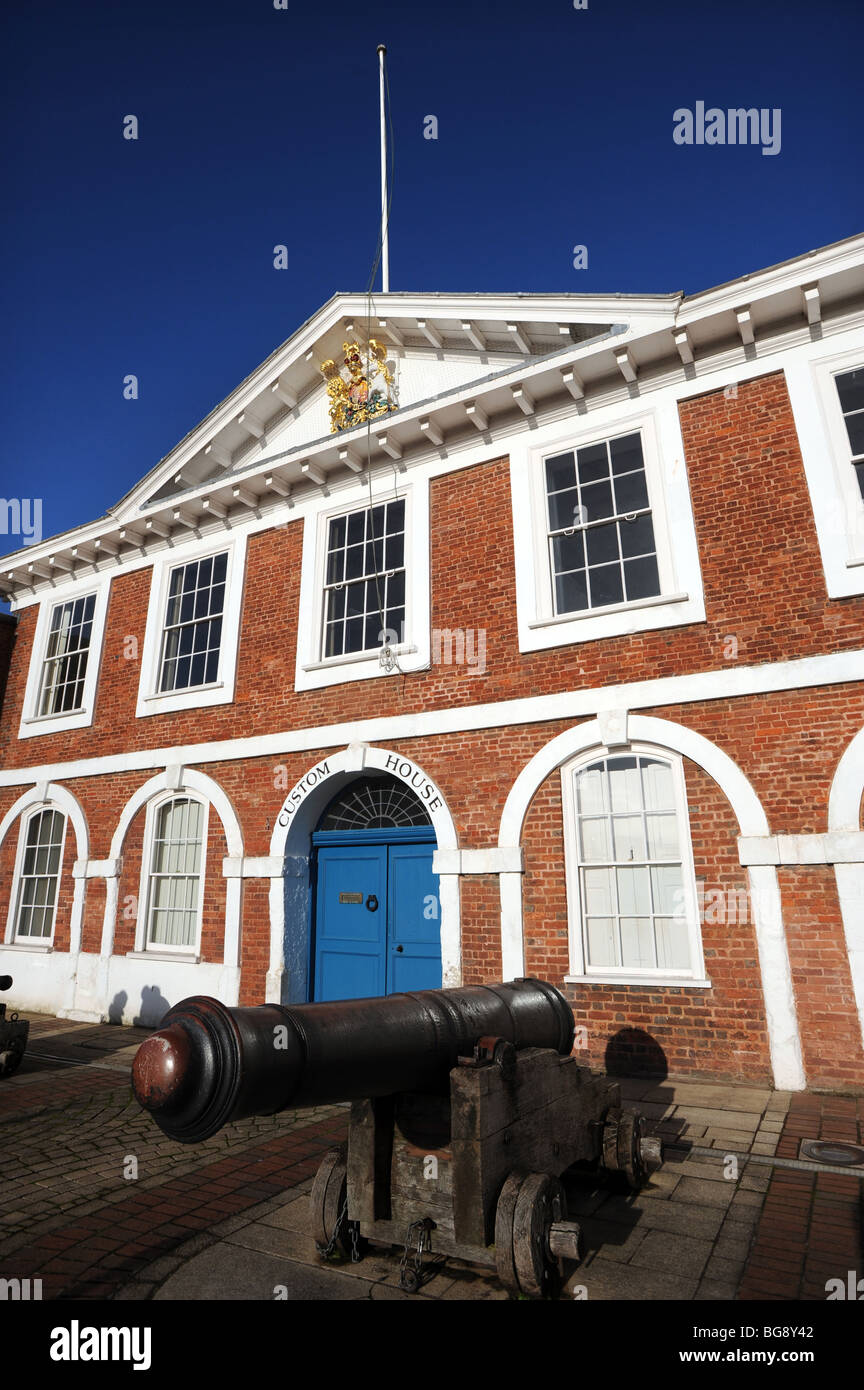 The Customs House on Exeter Quay - Stock Image