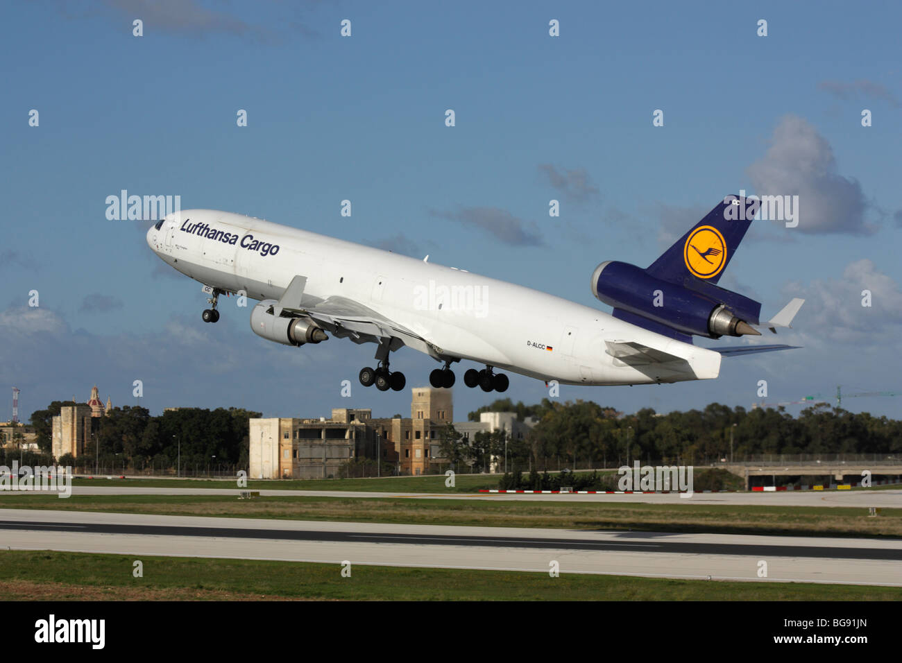 Air Freight Transport Lufthansa Cargo Md 11f Commercial Jet Plane On Stock Photo Alamy