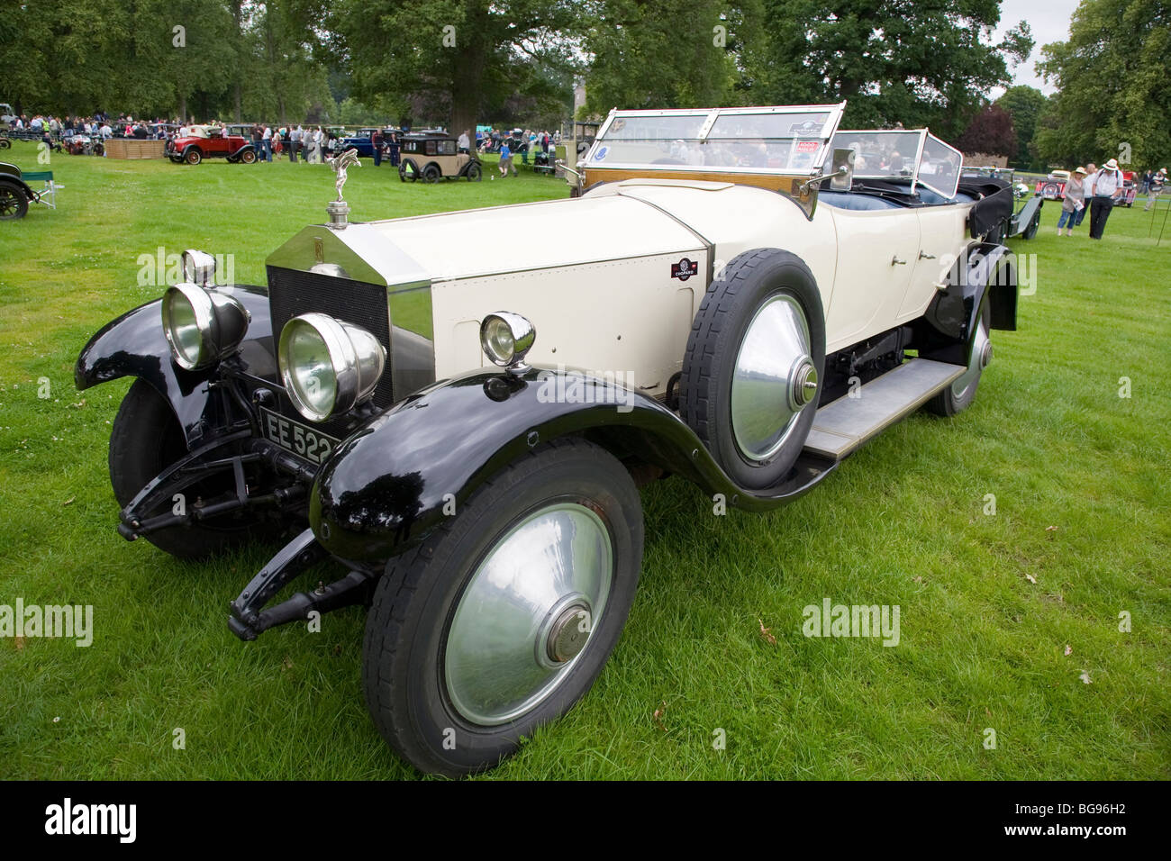 White Rolls Royce Silver Ghost Stock Photo Alamy
