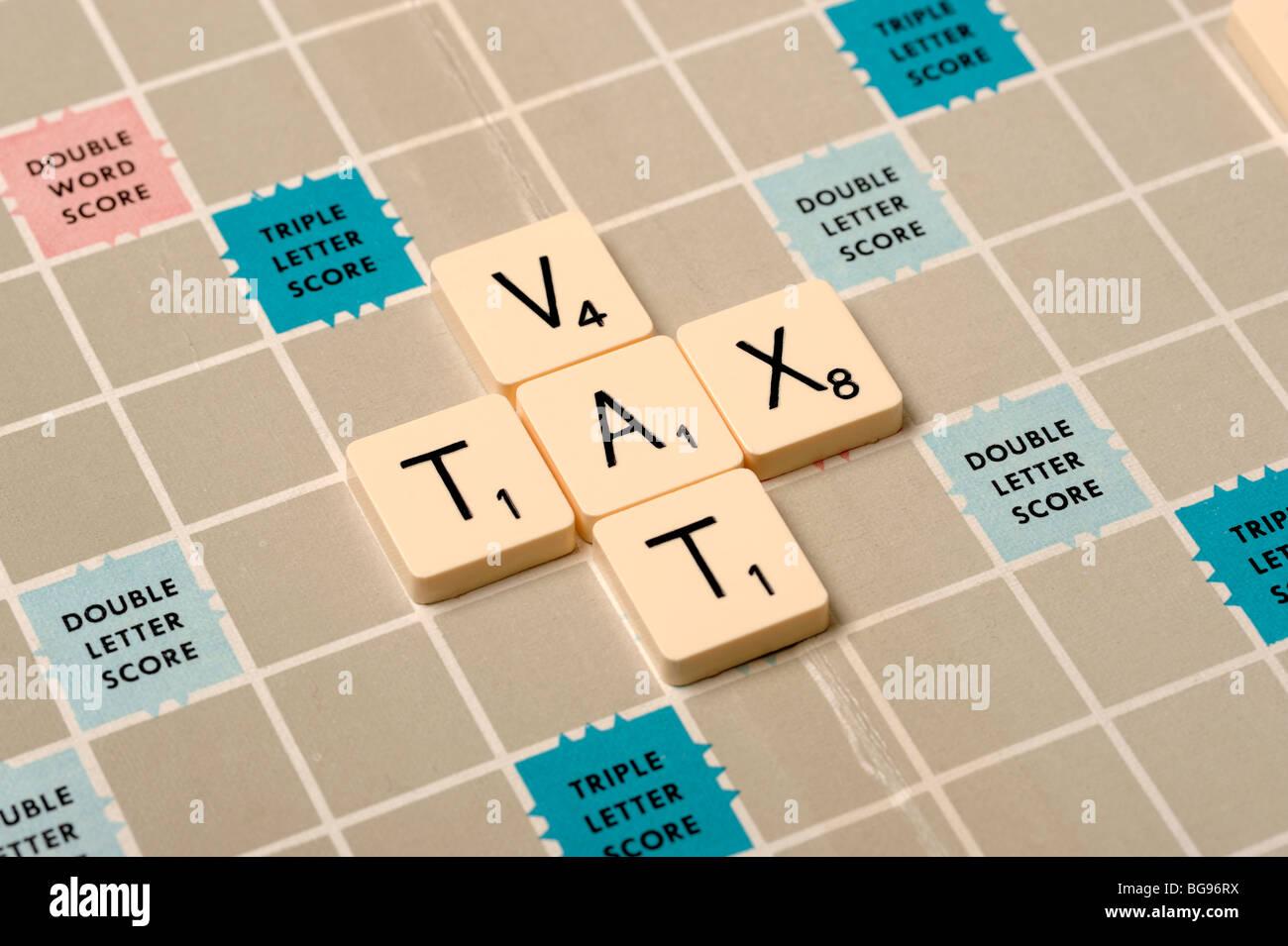 Scrabble board - Stock Image