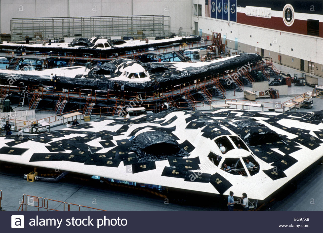 Stealth Bomber Stealth technology Stealth Bombers Stealth technology also known as LO technology (low observable Stock Photo