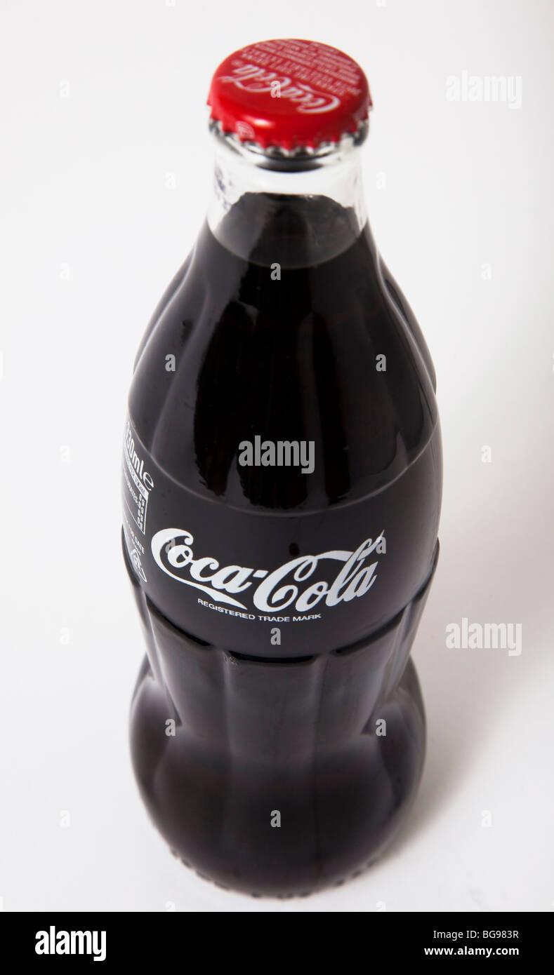 glass bottle coca cola coke - Stock Image