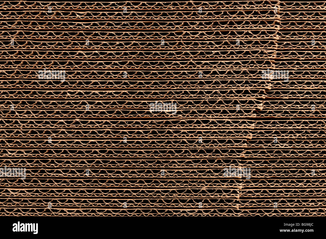 Stack of corrugated cardboard - Stock Image