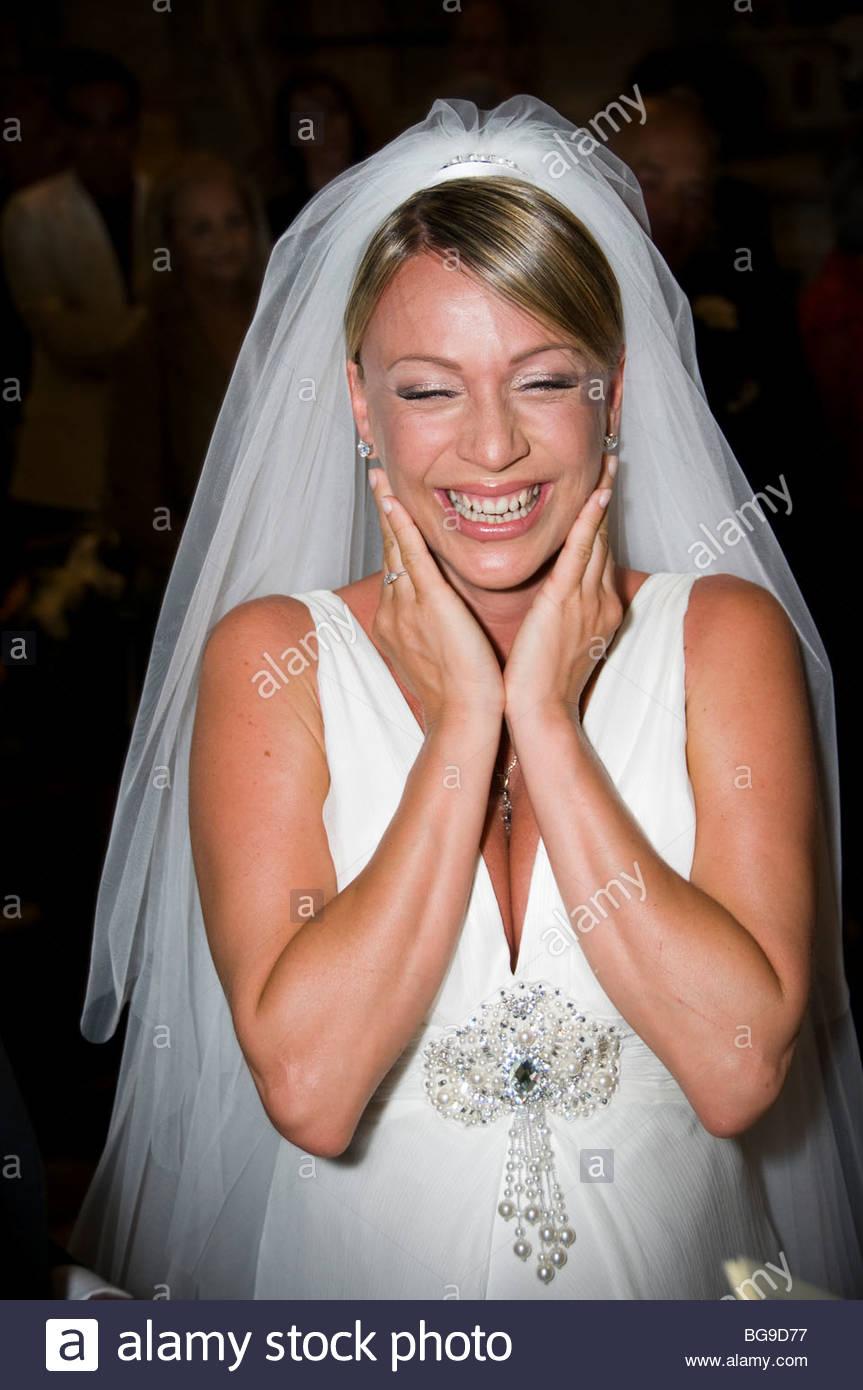 Joyful bride - Stock Image