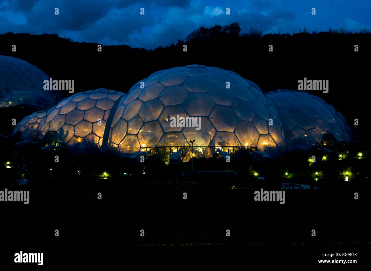 The Eden Project At Night Cornwall