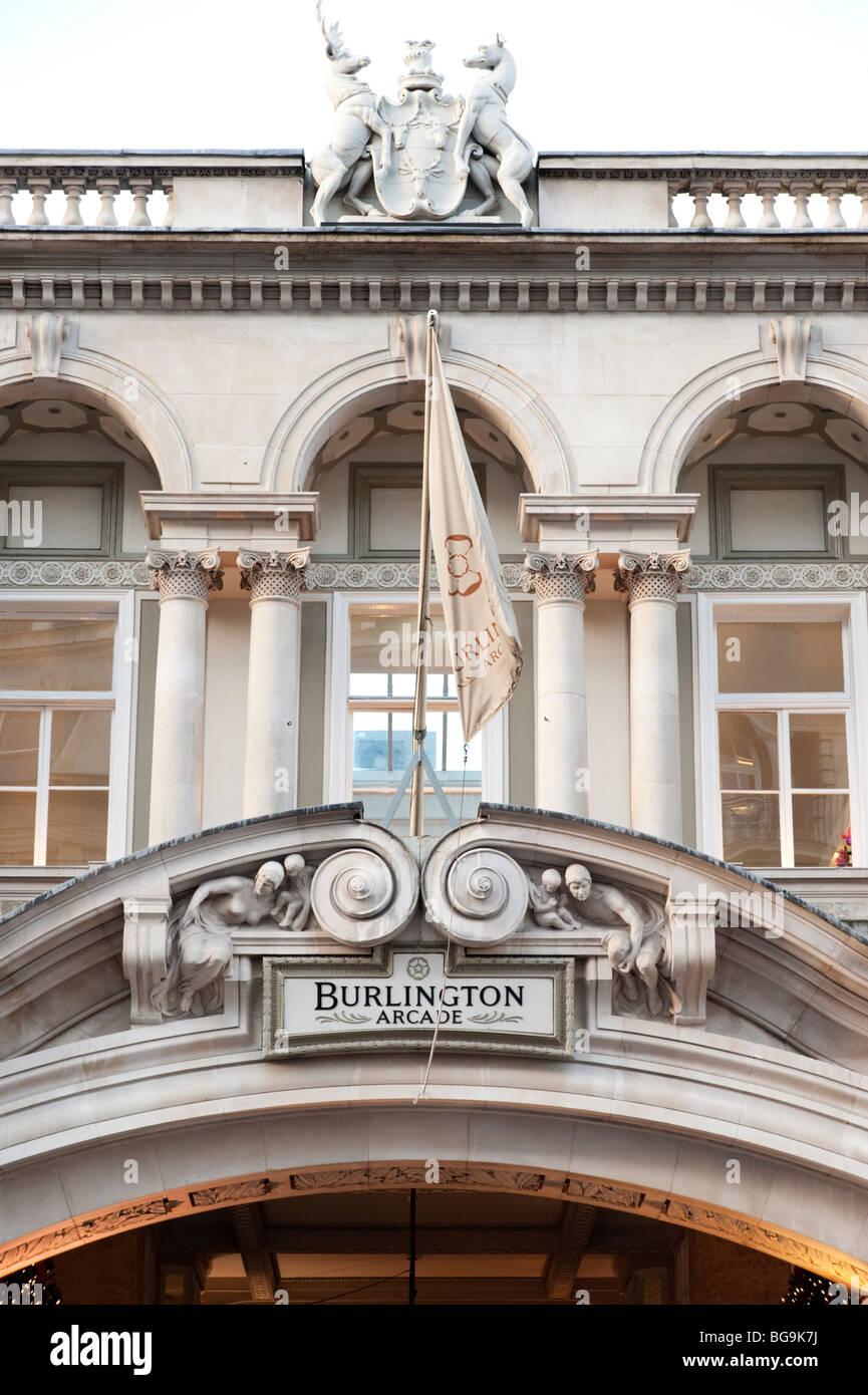 Burlington Arcade, Piccadilly, London, England, UK - Stock Image