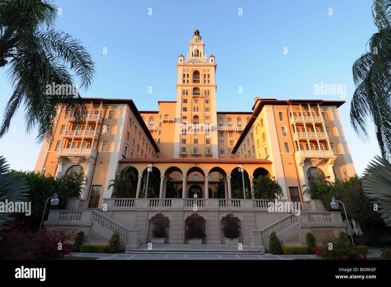 The historic Biltmore Hotel in Coral Gables, Miami Florida - Stock Image