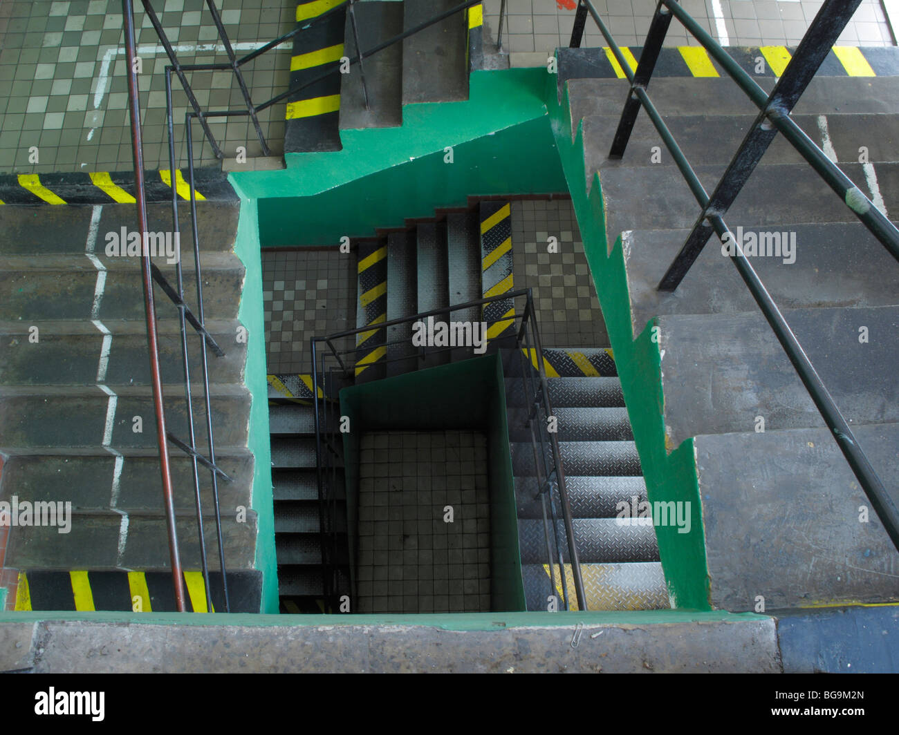 stairs factory steps iron metal steelwork industry - Stock Image