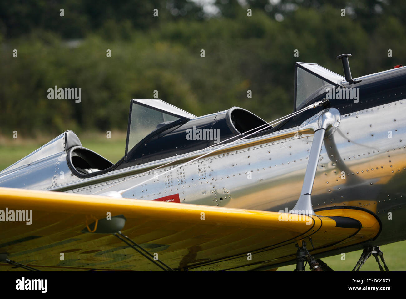 Ryan PT22 recruit military trainer monoplane from 1942. - Stock Image