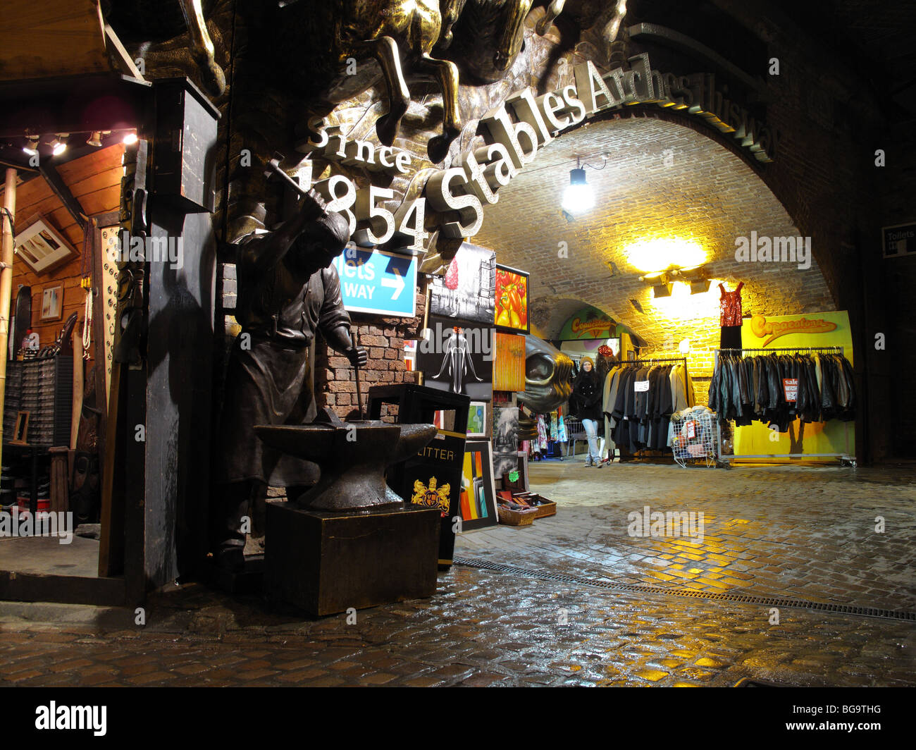 Stables Arches, Camden Market, London - Stock Image