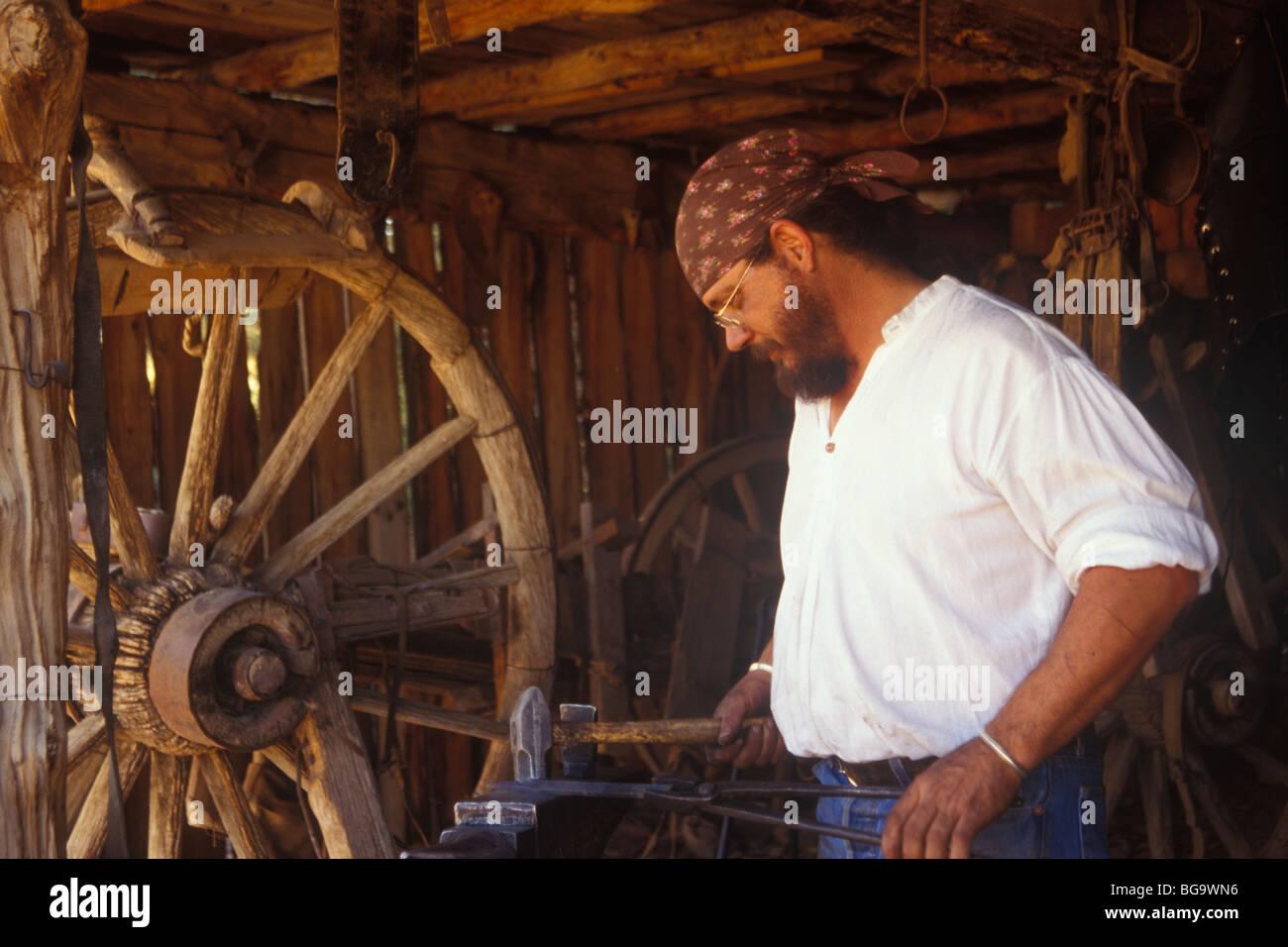 wheelwright shop, El Rancho De Las Golondrinas, Santa Fe, New Mexico - Stock Image
