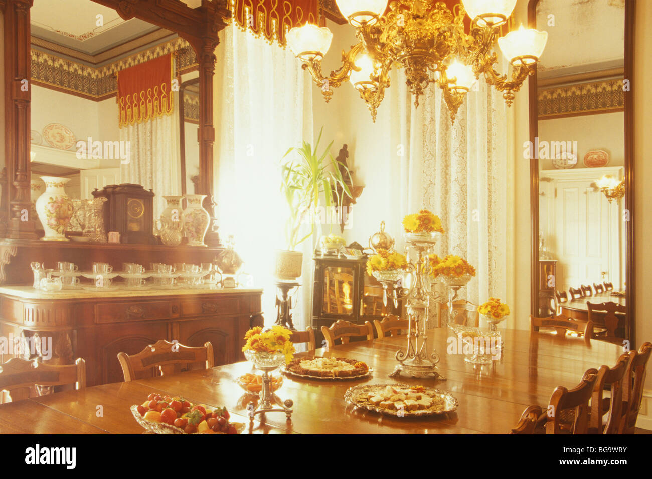 Dining Room Set For Tea, Mainstay Inn, Cape May, New Jersey   Stock