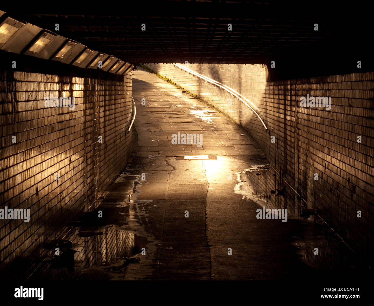 Railway underpass in castleford west yorkshire. - Stock Image
