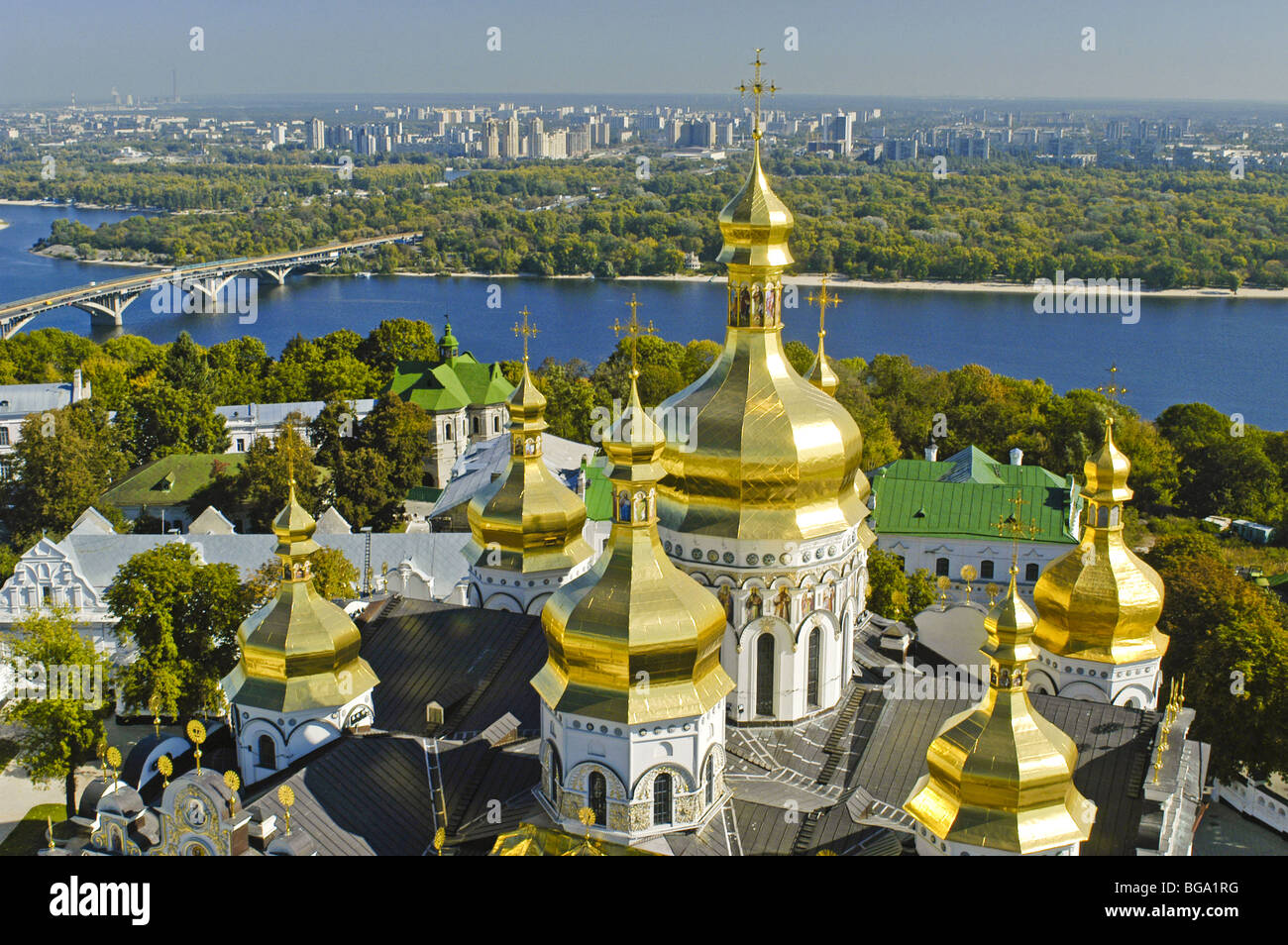 Kiev, cave monastery, river Dnepr - Stock Image