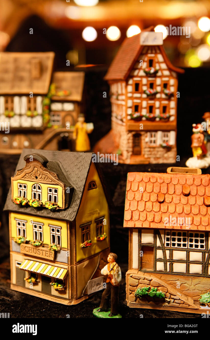 The German Market in Bimingham City Centre at Christmas. Traditional hand made toy. - Stock Image