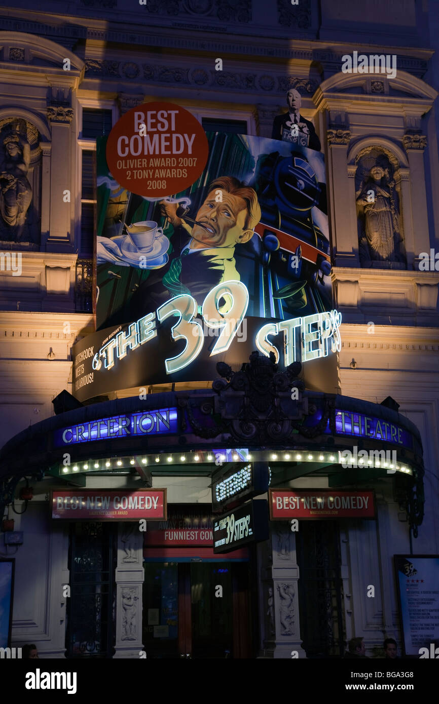 The 39 Steps Play at the Criterion Theatre London Comedy - Stock Image