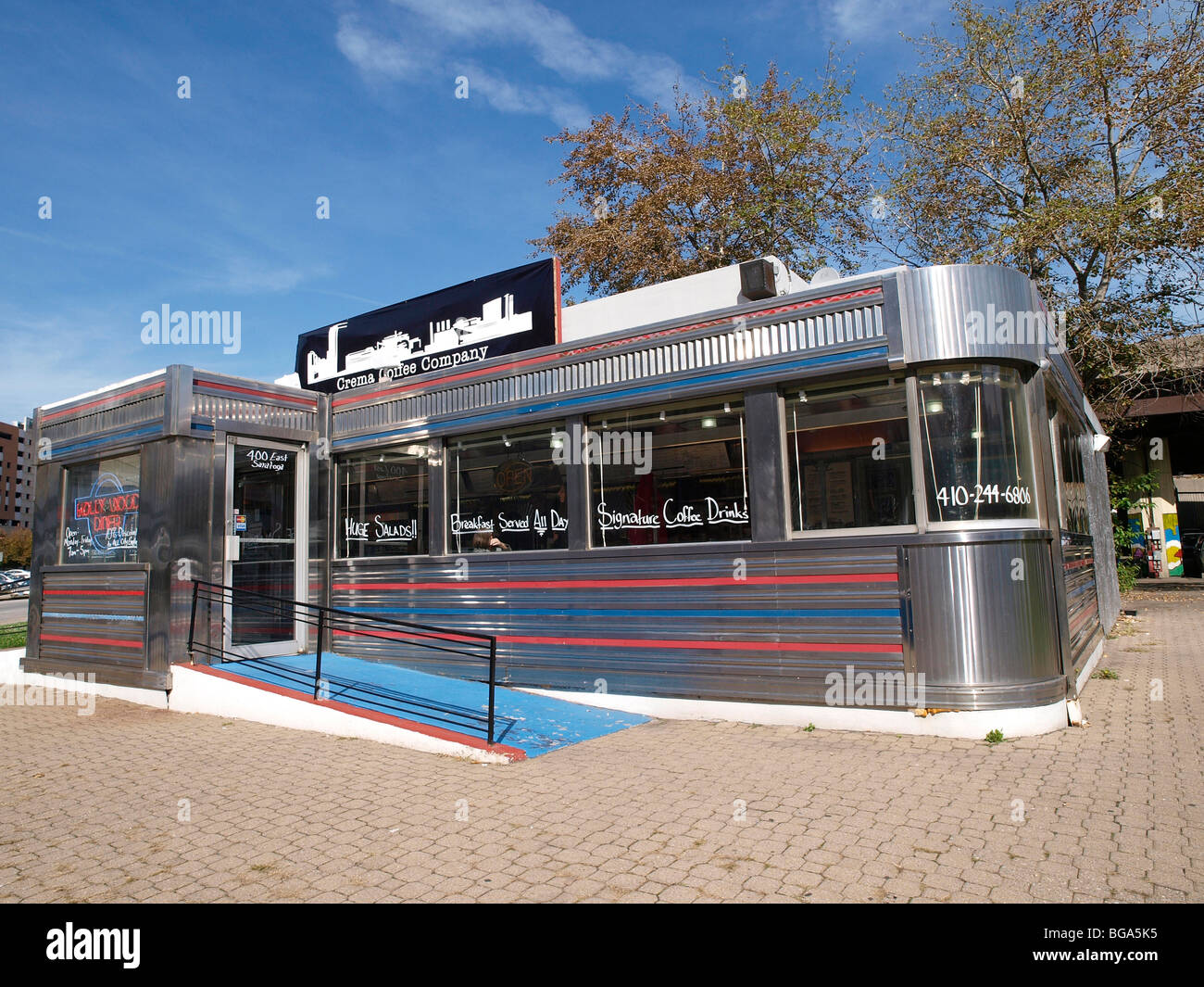 The Hollywood Diner featured in films such as Barry Levinson's 'Diner' and 'Liberty Heights' - Stock Image