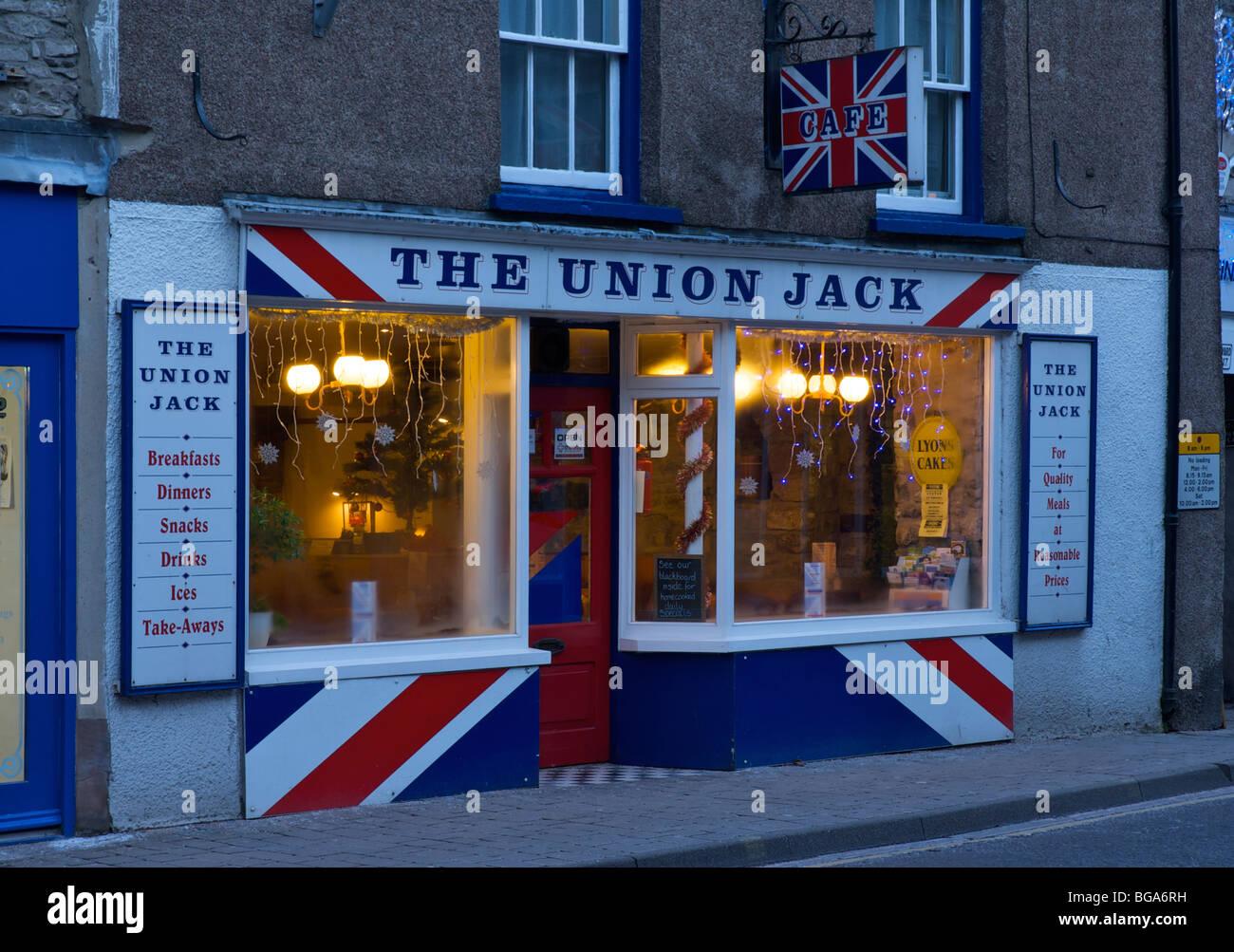 The Union Jack Cafe, Highgate, Kendal, Cumbria, England UK - Stock Image