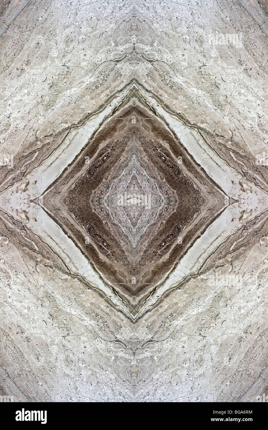 Gray Marble Texture, Specular Vein, 'a macchia aperta' - Stock Image