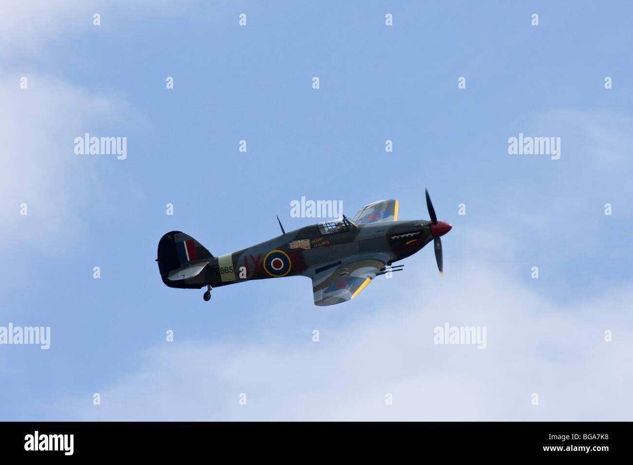 RAF Hurricane Mk IIC of the Battle of Britain Memorial Flight - Stock Image