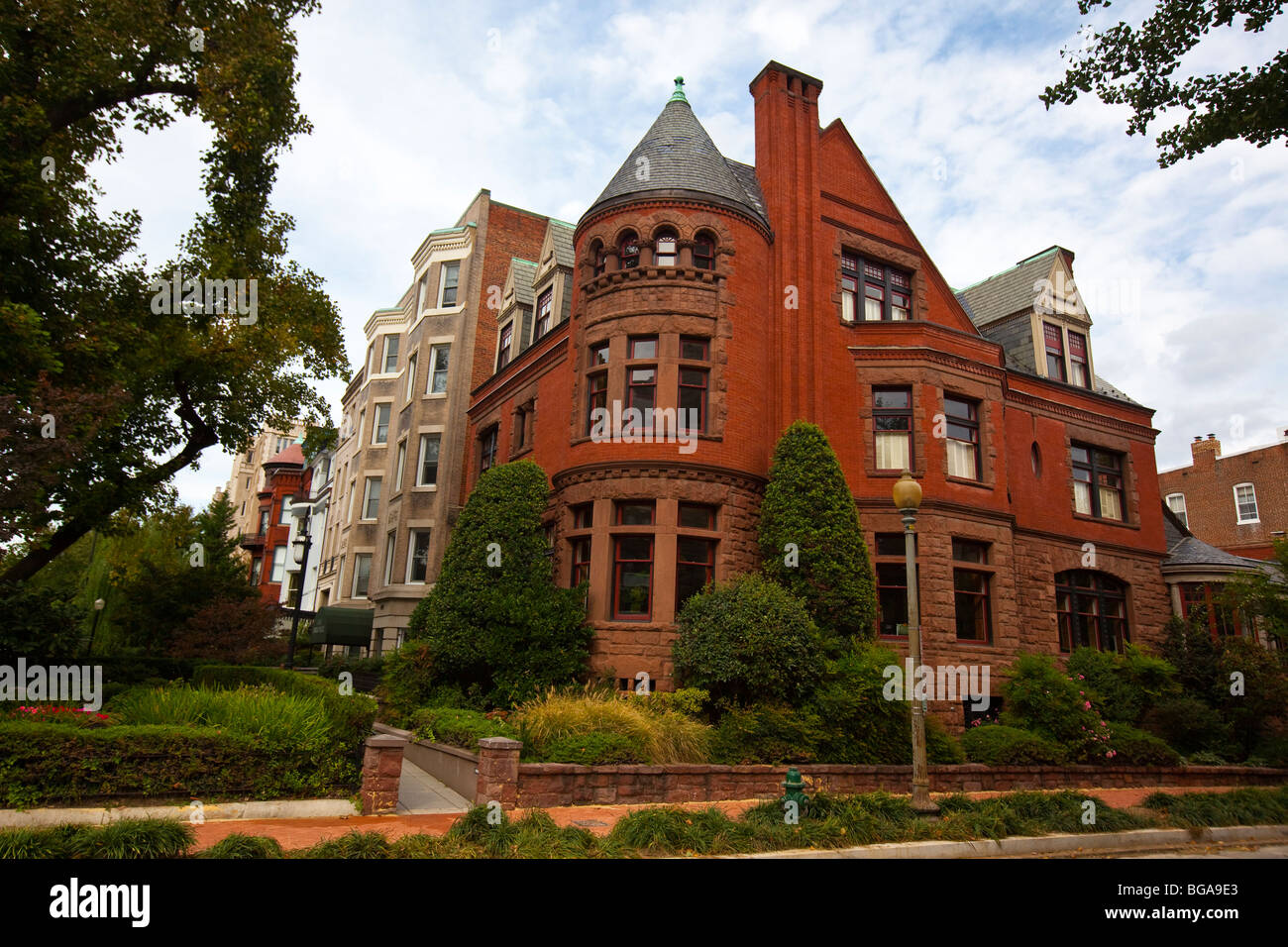 The Green Door Historic Richardsonian Romanesque mansion in Dupont Circle in Washington DC & The Green Door Historic Richardsonian Romanesque mansion in Dupont ...