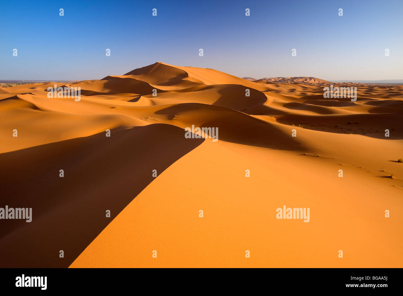 Erg Chebbi, Merzouga, Ziz Valley, Sahara Desert, Morocco - Stock Image