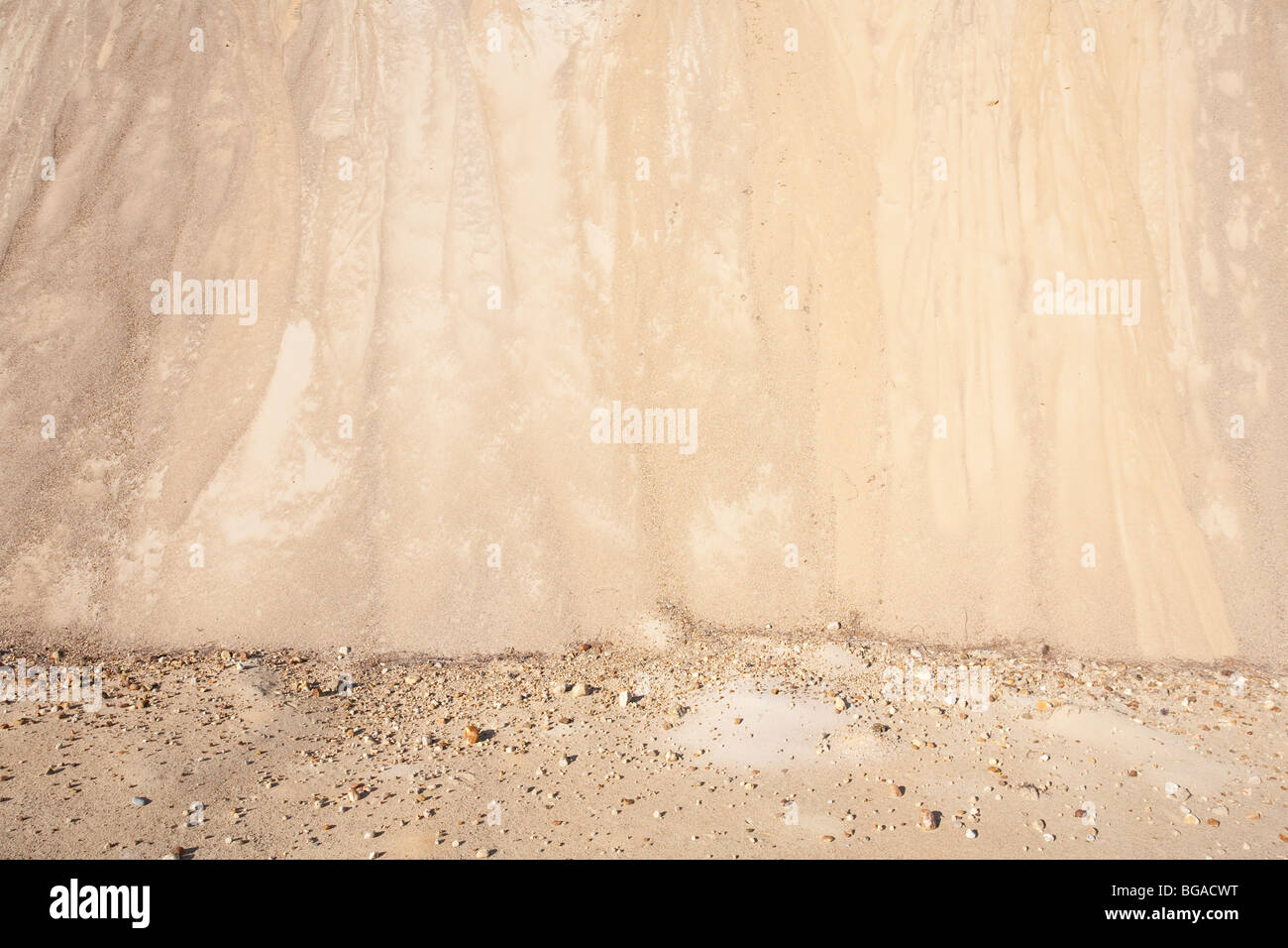 Sand at esker, which was formed at ice age - Stock Image