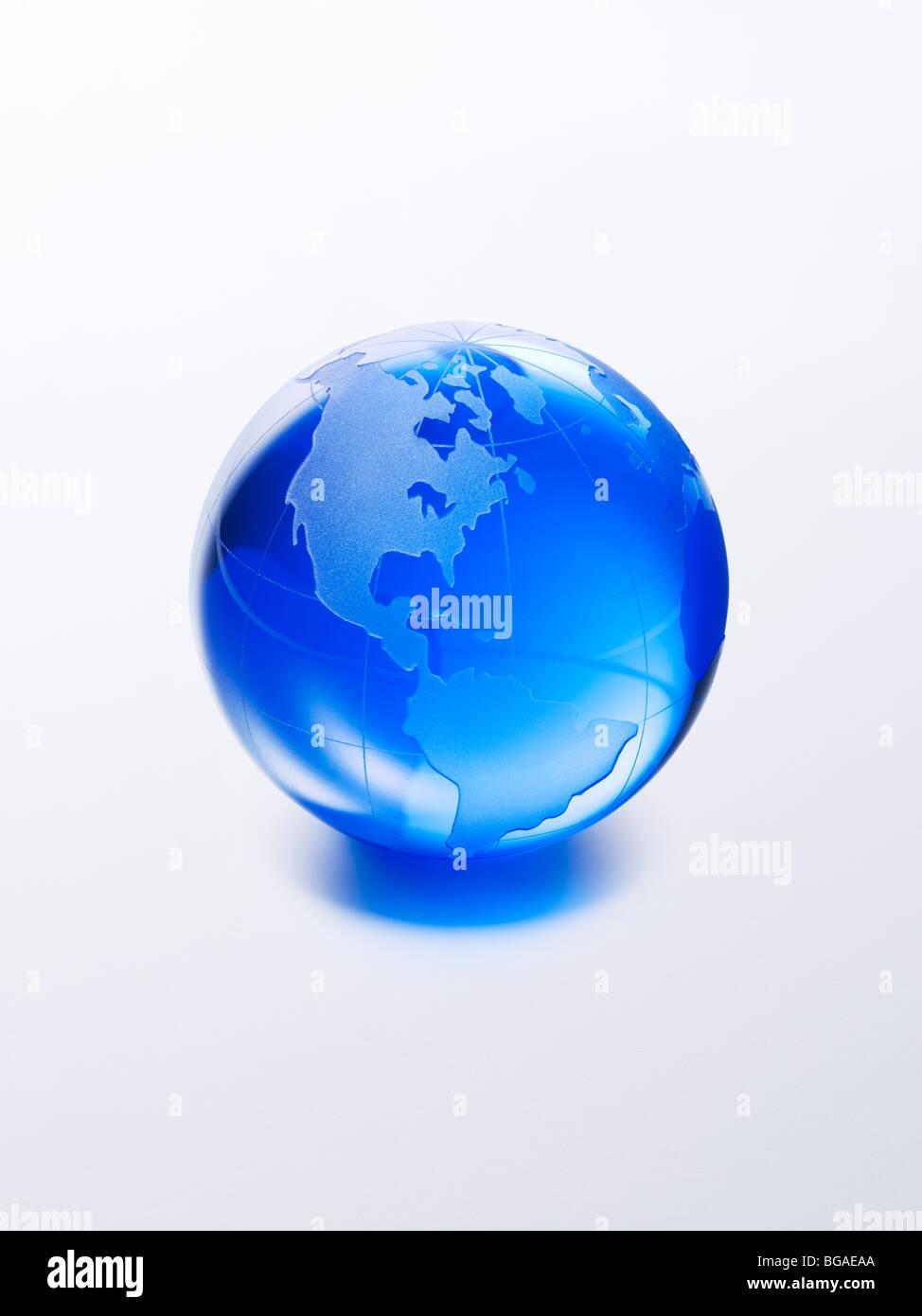 Blue Globe - Stock Image