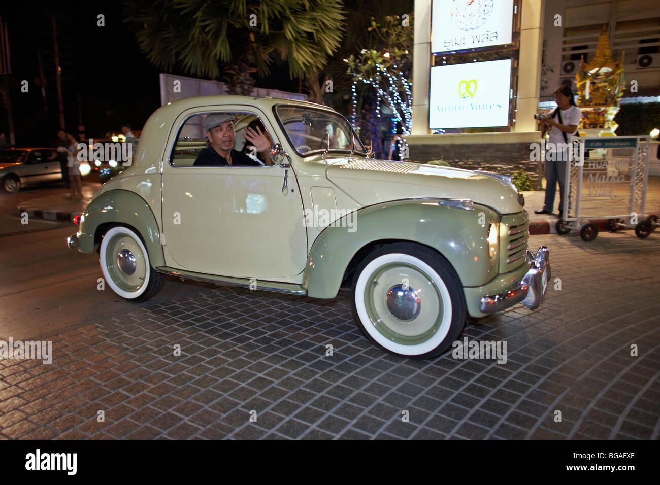 Fiat 500 coupe Italian classic car - Stock Image