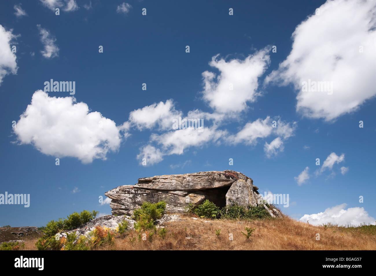 Dolmen de Busnela en la Provincia de Burgos - Stock Image