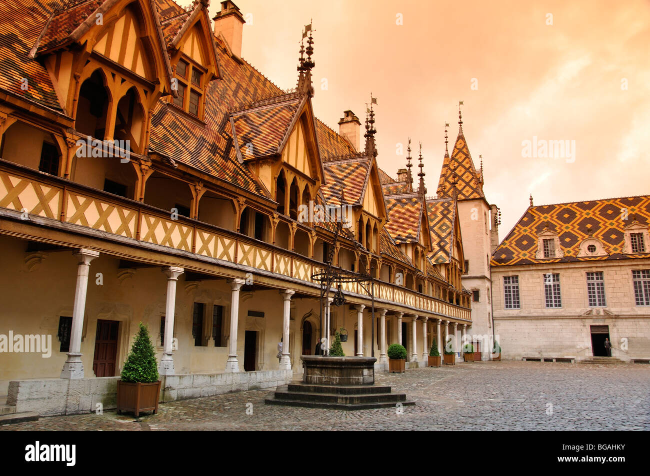 Hospices in Beaune, Burgundy, France - Stock Image