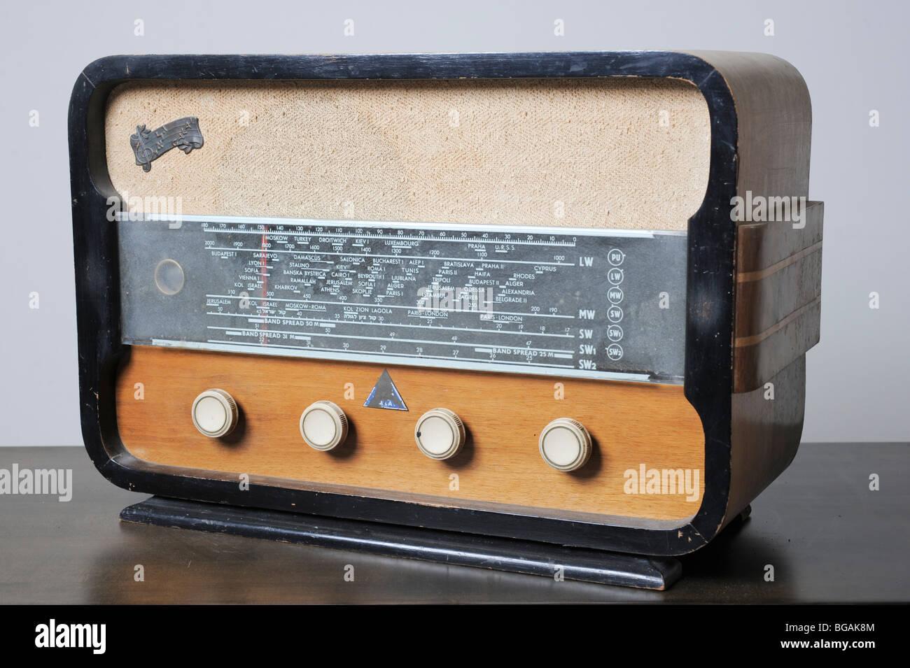 Cutout of an Israeli made Galai radio receiver on white background Stock Photo