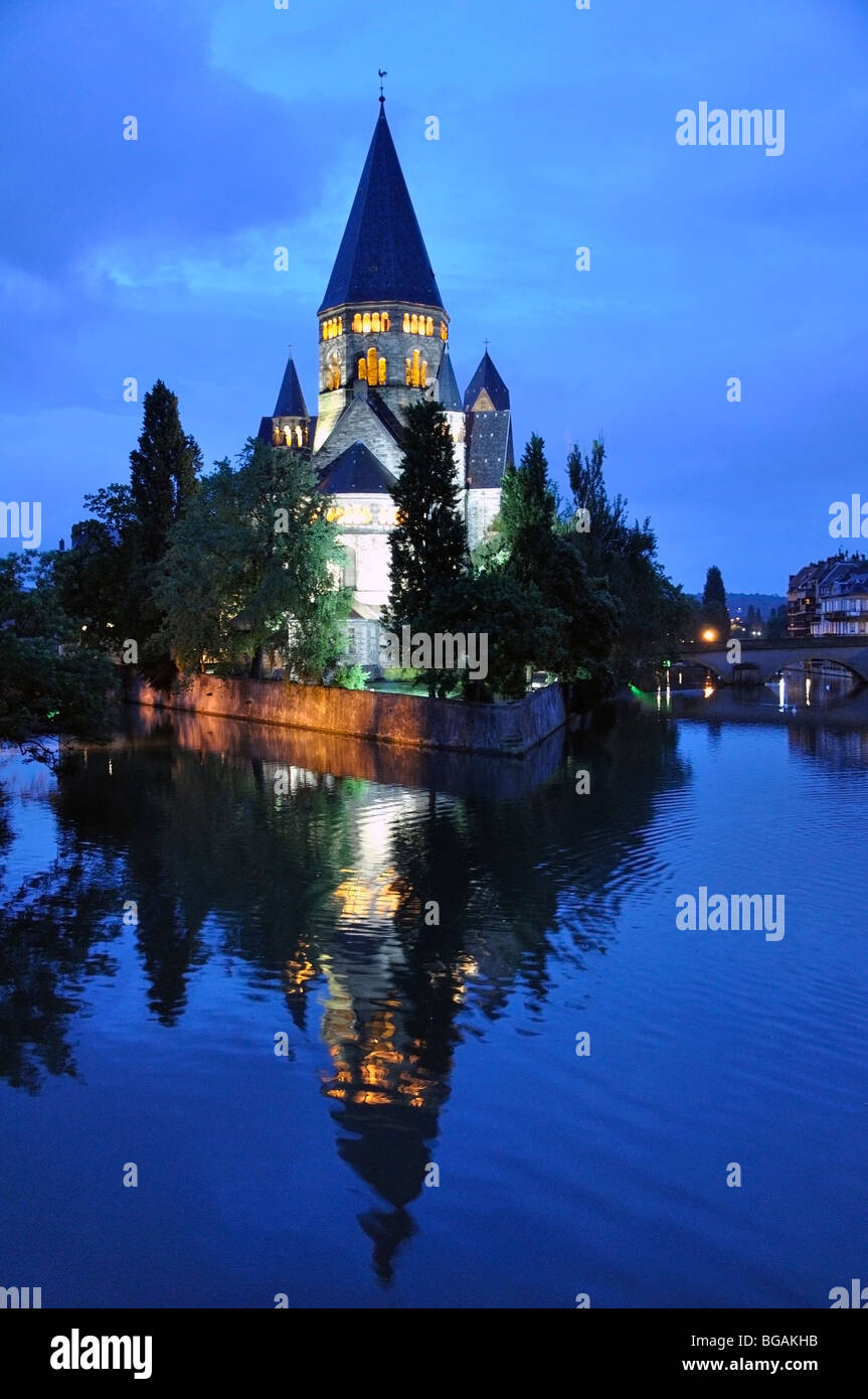 Temple Neuf, Metz, France - Stock Image
