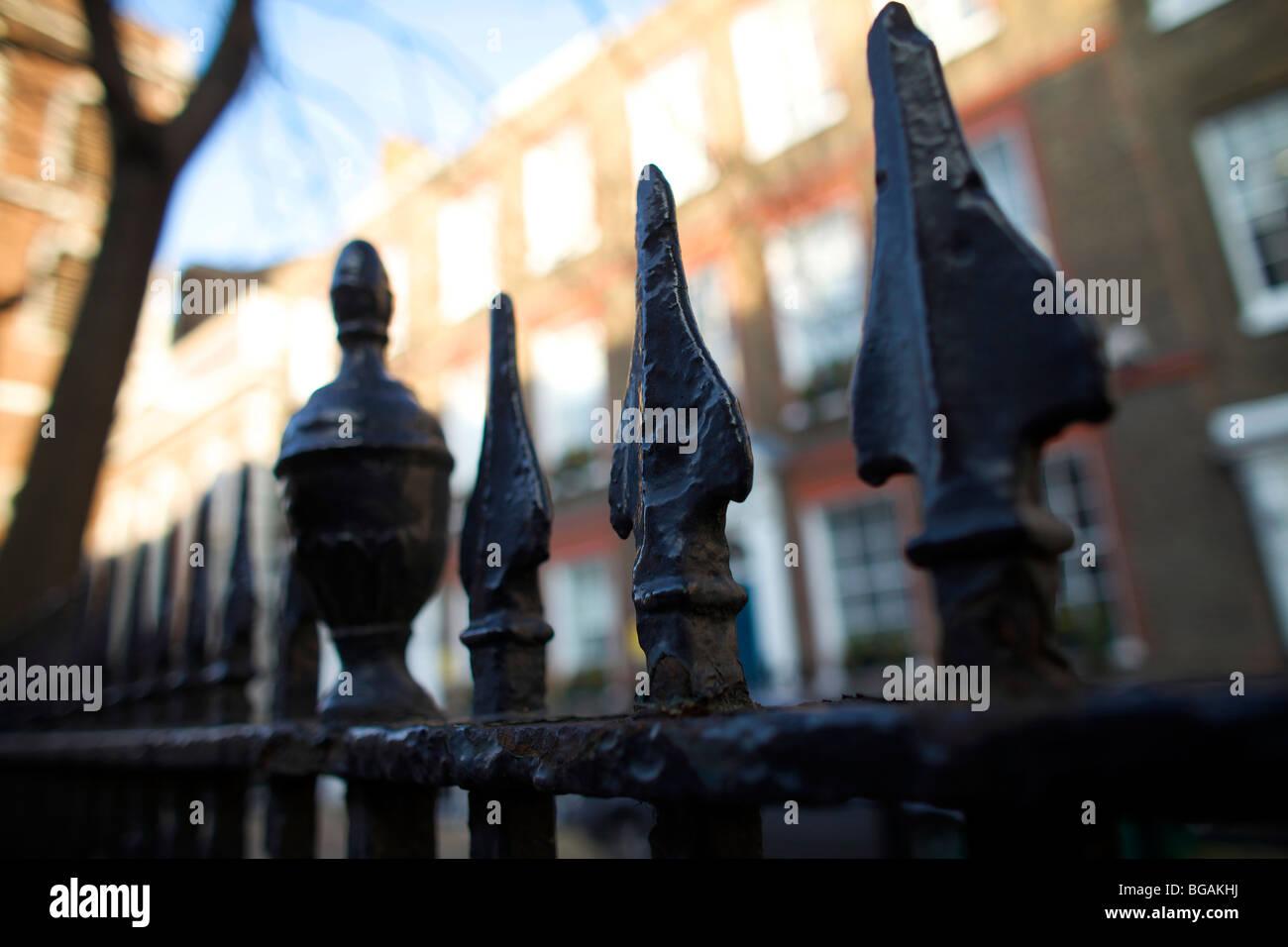 Cast Iron Railings in London UK - Stock Image
