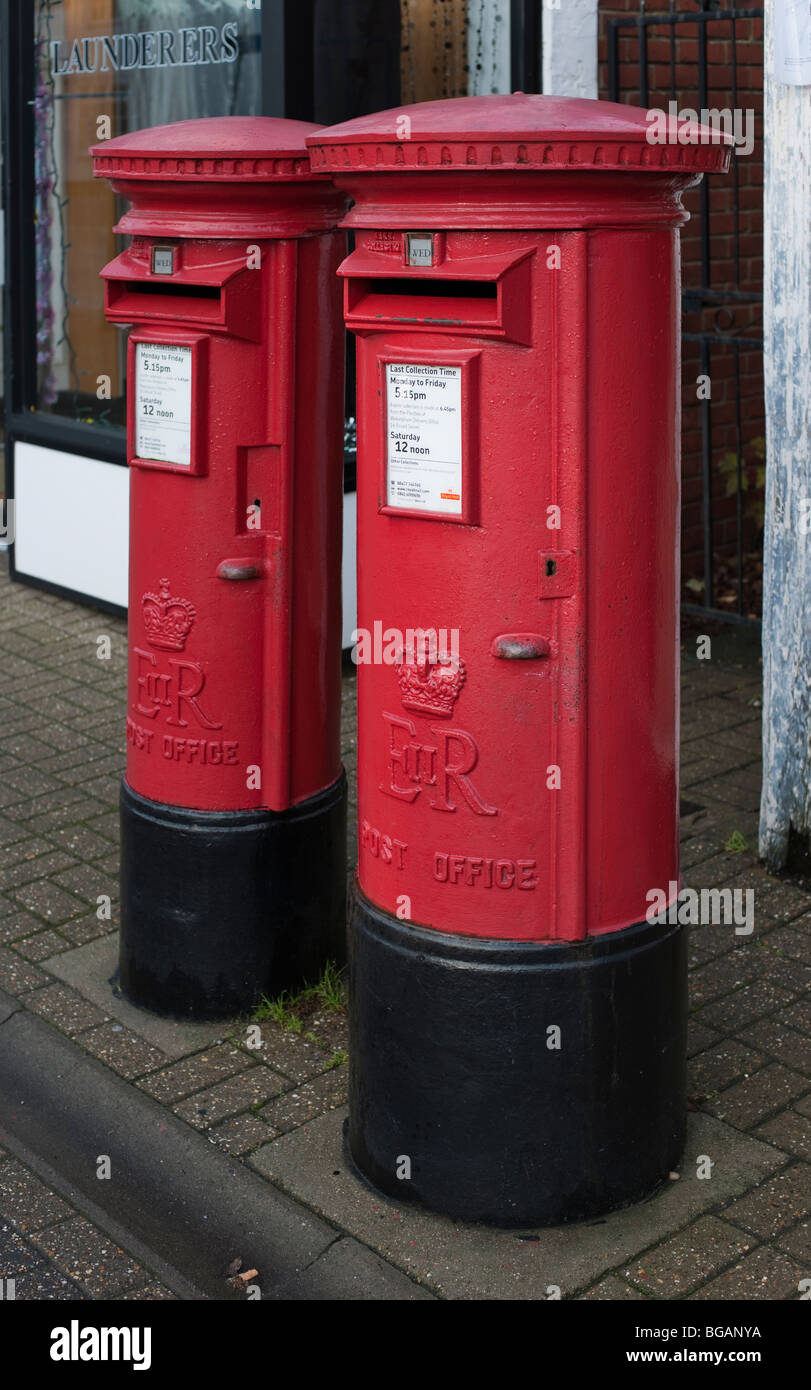 Royal Mail Pillar Boxes at Crowthorne Berkshire. - Stock Image