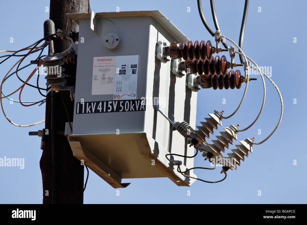 Ac High Voltage Power Transformer On A Farm In South Africa Stock Wiring