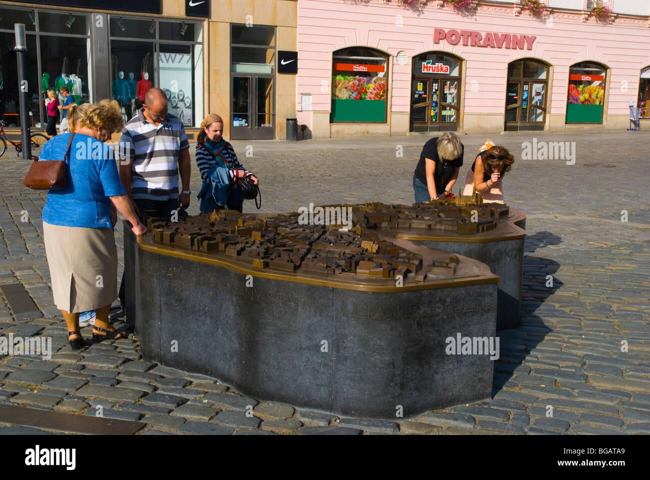 Miniature model of Olomouc Czech Republic Europe - Stock Image