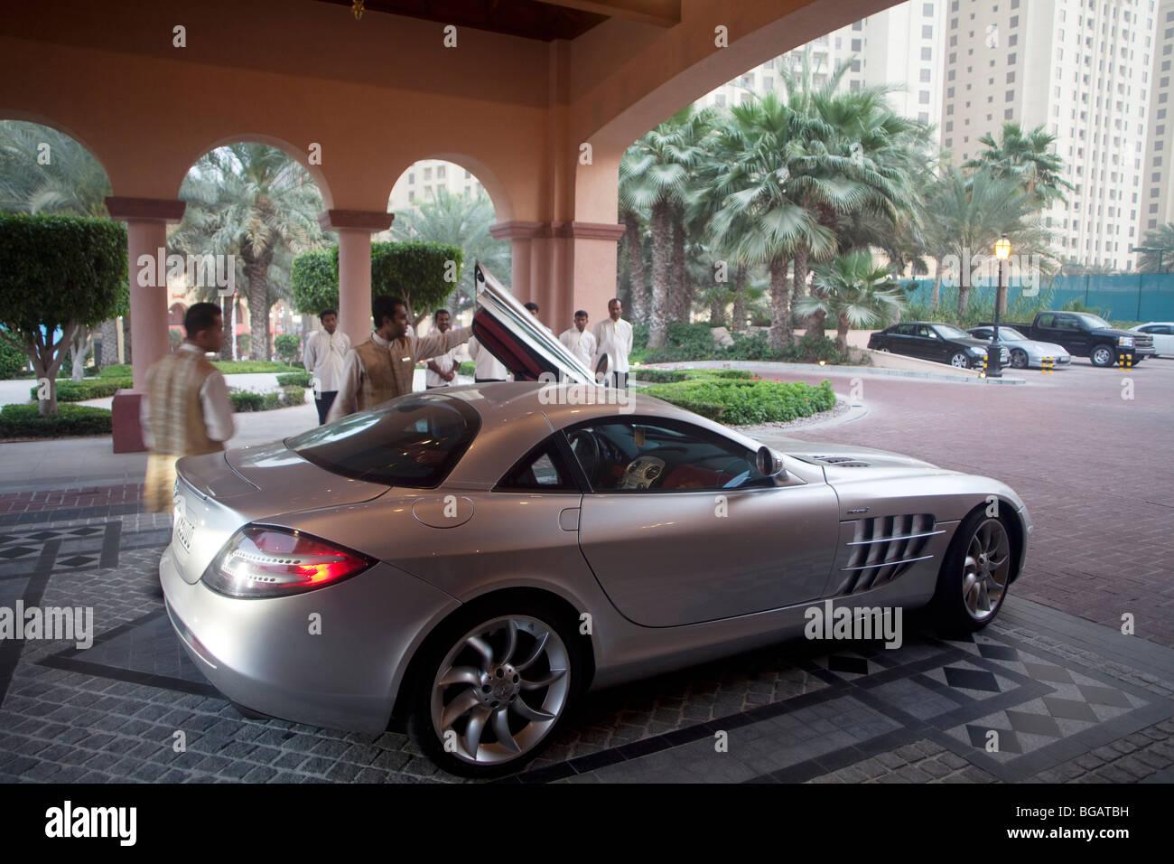 Sport Car At The Ritz Carlton Hotel, Dubai, United Arabian Emirates
