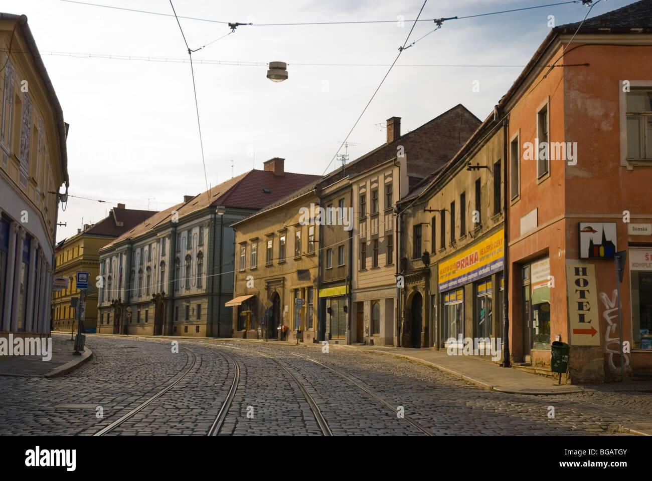 Street central Olomouc Czech Republic Europe - Stock Image