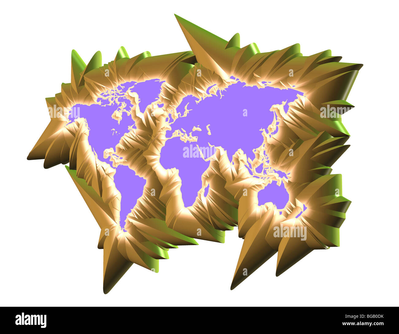 3d map continent computer generation stock photo 27286719 alamy