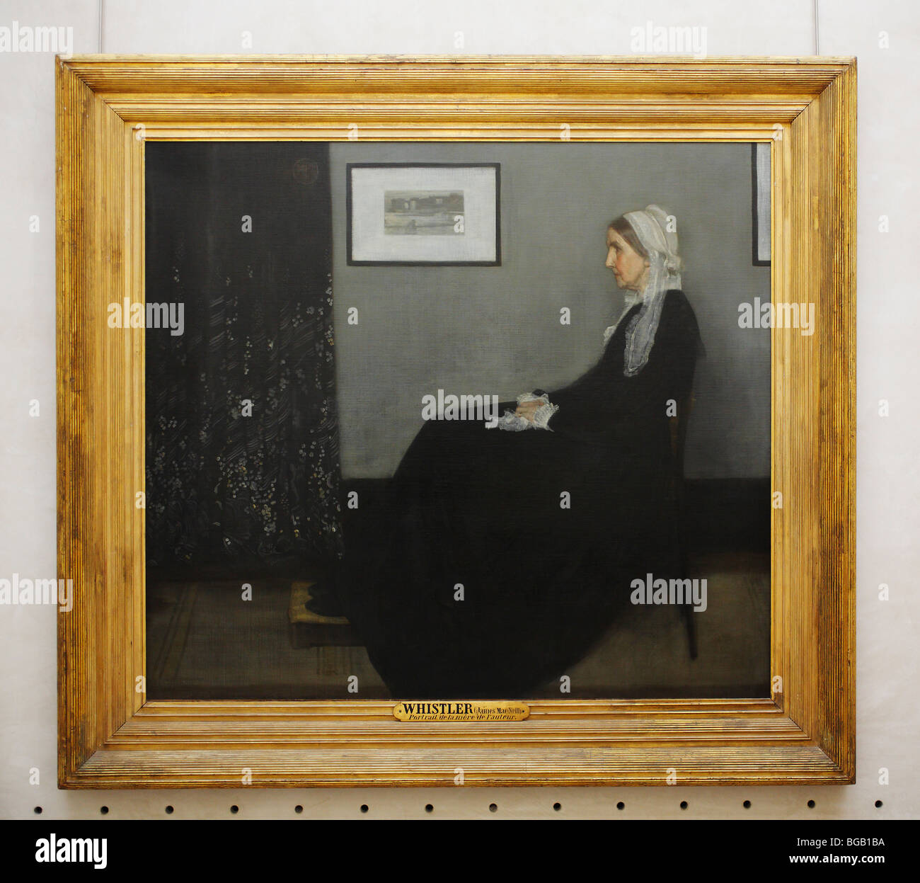 Arrangement in Grey and Black No. 1: The Artist's Mother by James Whistler, Musée d'Orsay (Orsay Museum), - Stock Image