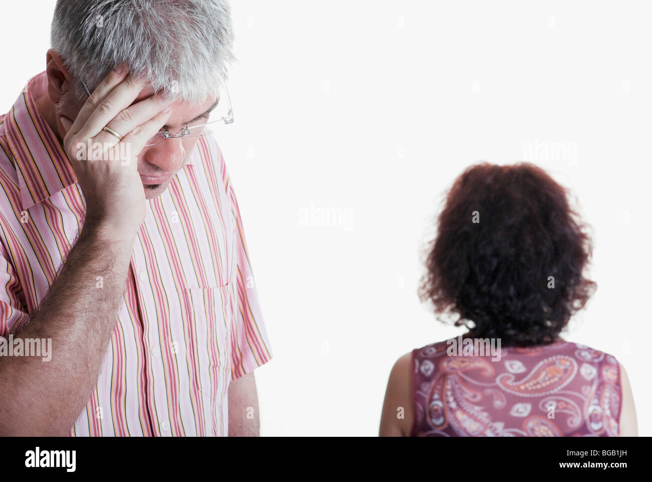 Couple; Husband And Wife Fighting - Stock Image