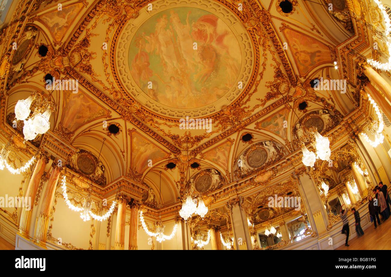 Salle de Fetes, Reception Room, Musée d'Orsay (Orsay Museum), Paris, France - Stock Image