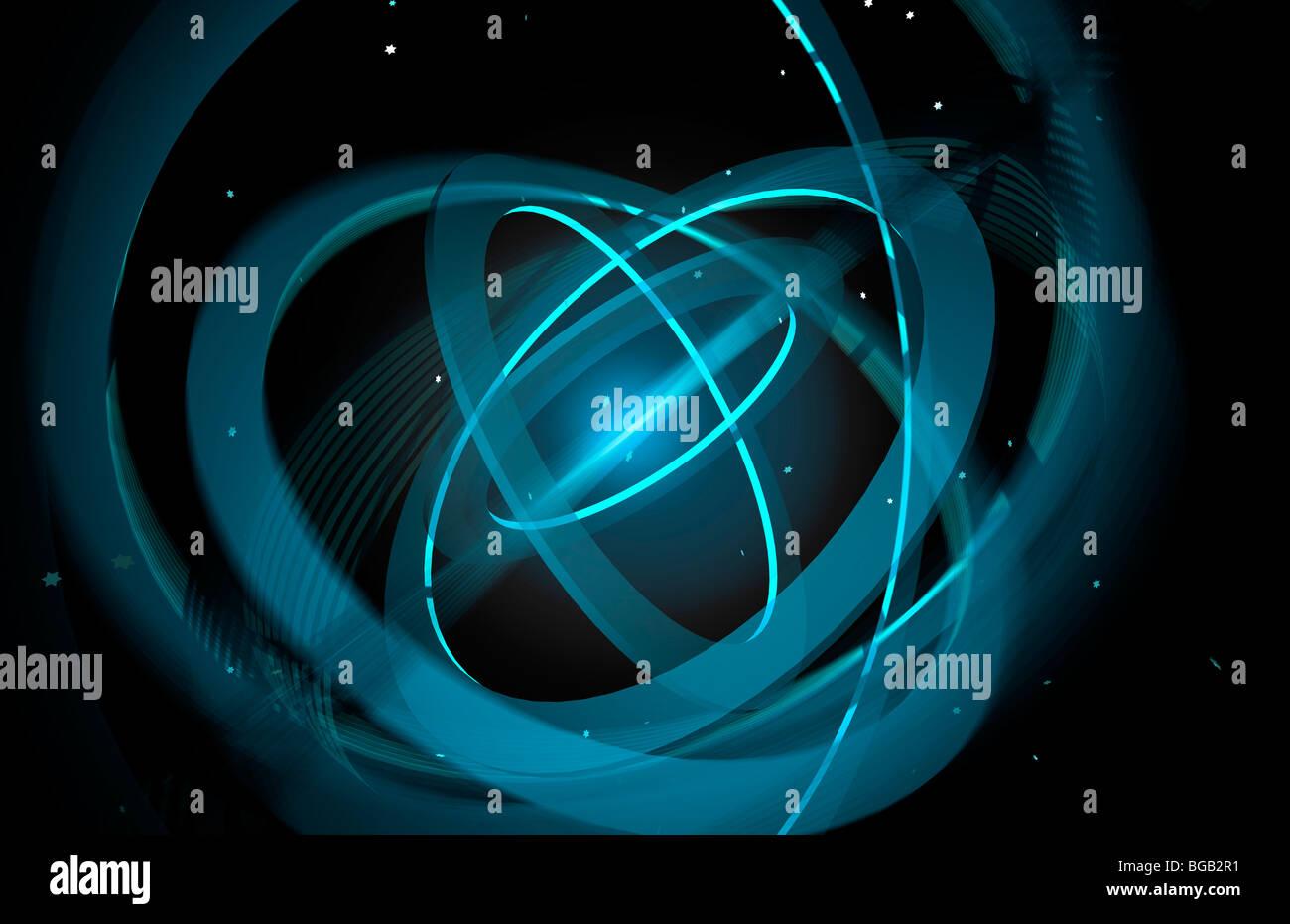 Gyroscope; Computer Generated Gyroscope - Stock Image