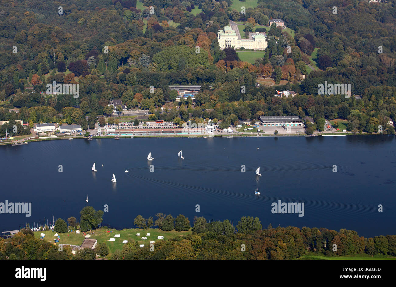 Baldeney sea, Ruhr river, Essen, Germany, NRW, Europe. Stock Photo