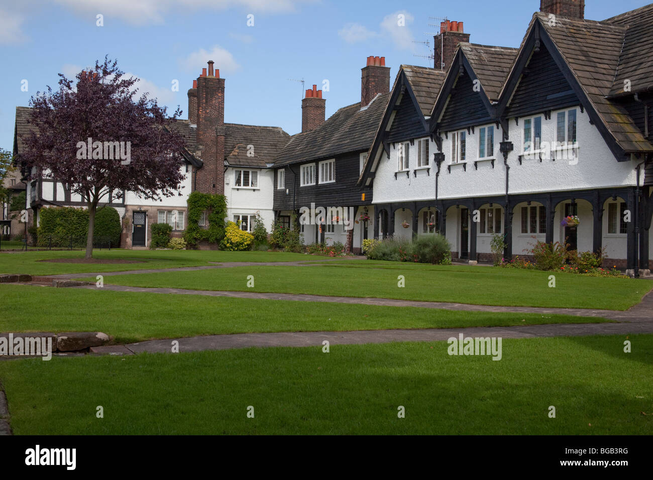 Port Sunlight, home of Lever Brothers later to become Unilever - Stock Image