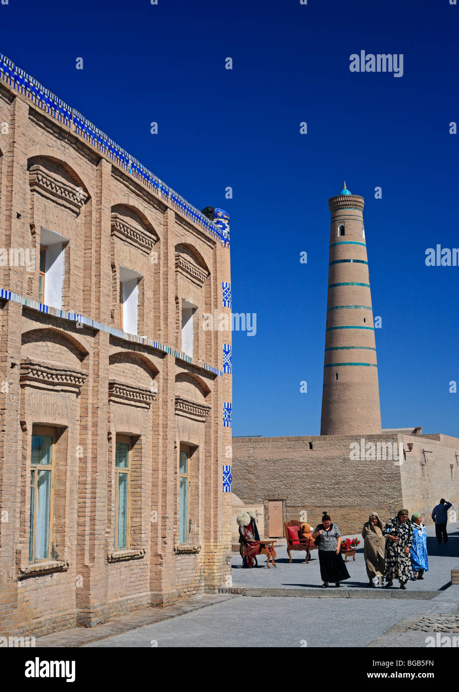 Juma minaret, Khiva, Uzbekistan - Stock Image