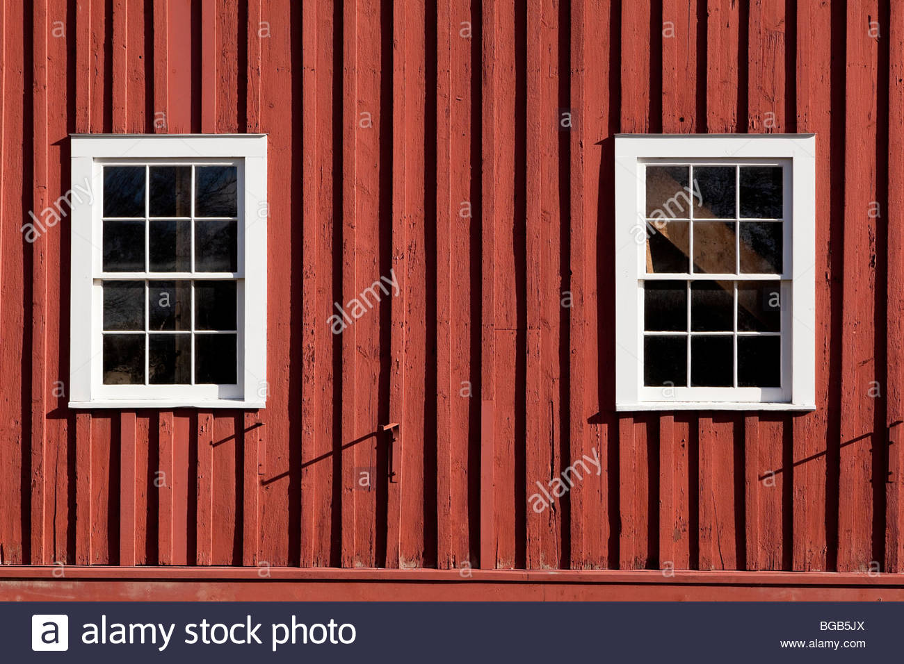 Board and Batten siding on Dominion Carriage Works in Black Creek Pioneer Village in Toronto Ontario Canada Stock Photo