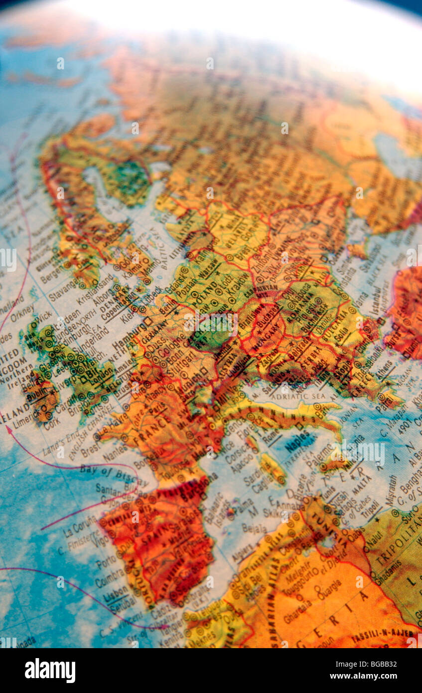Photograph of map europe globe eu uk british countries travel stock photograph of map europe globe eu uk british countries travel gumiabroncs Image collections