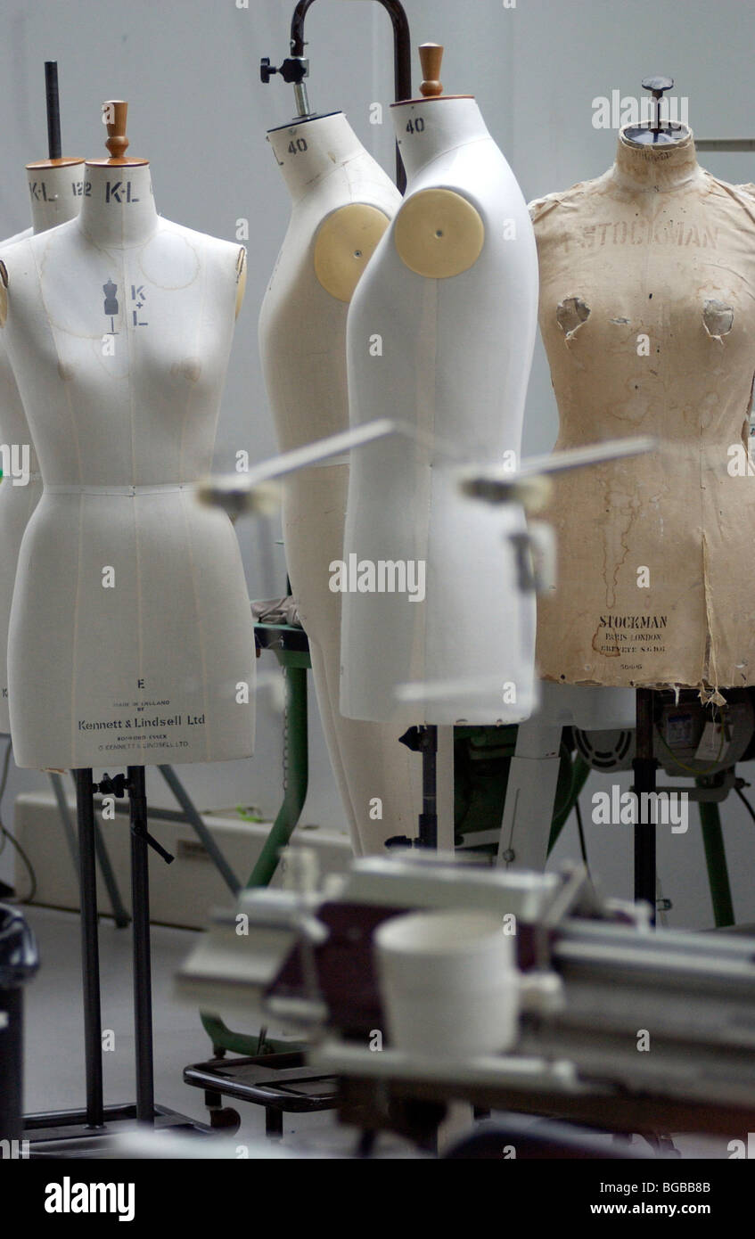 Royalty free photograph of dress makers dummy in fashion studio in London - Stock Image